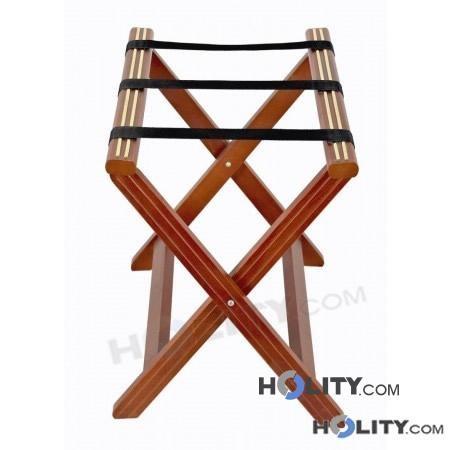 Porte-bagages pour hôtel en bois avec renforcements en nylon h16419 h16419