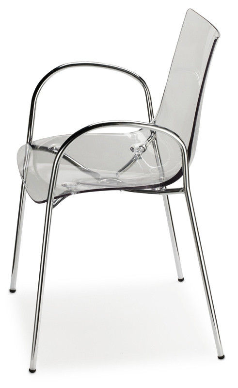 Chaise Design Avec Accoudoirs H74104 Transparente