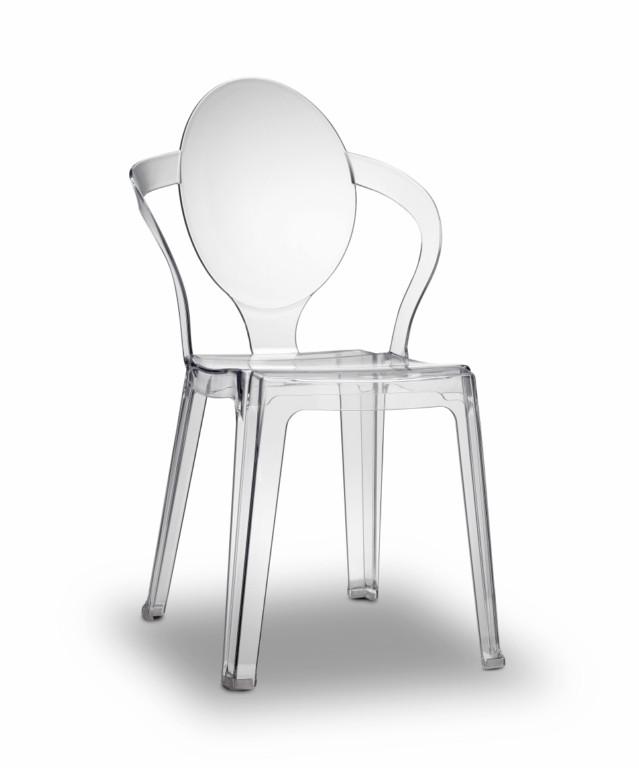 Chaise Design En Polycarbonate H7409 Transparente Fume