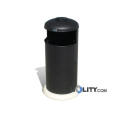 Poubelle avec cendrier pour aménagement urbain 60 lt h140144