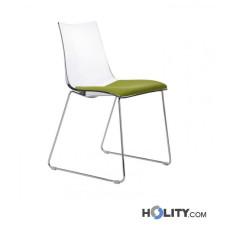 Chaise design rembouree anti-choc h74203