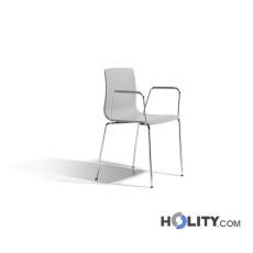Chaise Scab design avec accoudoirs h74281 gris clair