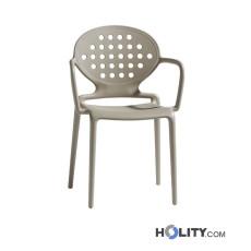 Chaise Scab design avec accoudoirs h74283 lin