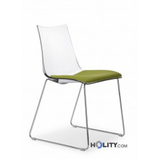 Chaise design rembouree h74202