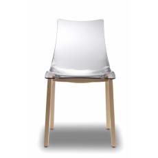 Chaise design en polycarbonate h7491  transparente
