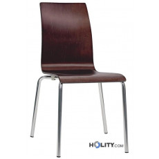 Chaise design en bois h26302