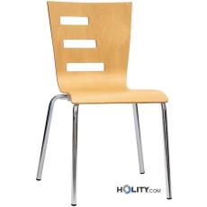 Chaise design en bois h26301