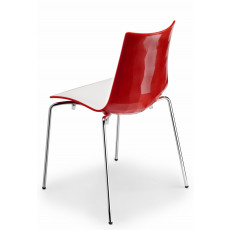 Chaise design en polymere -h7414-blanc-rouge