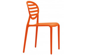 Chaise moderne en polypropylene renforce h7418-orange