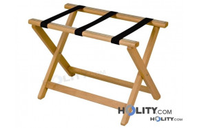 Porte-bagages pour hôtel en bois avec renforcements en nylon h16420 h16420