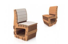 Chaise en carton h25207