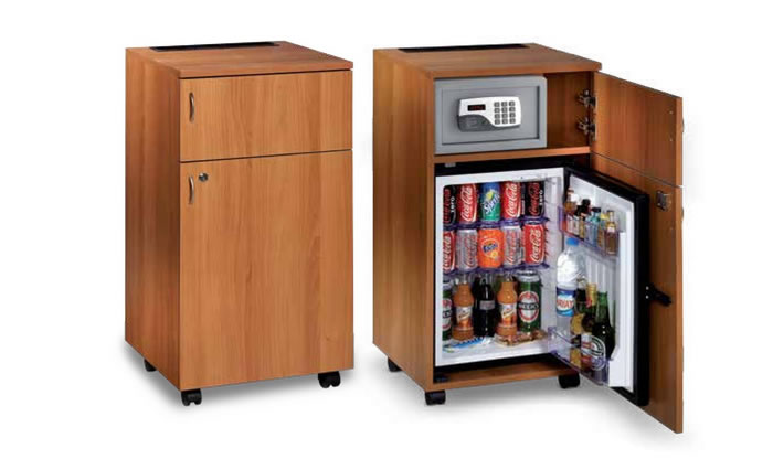 Mini bar meuble pose libre h7656 for Mini roulette pour meuble
