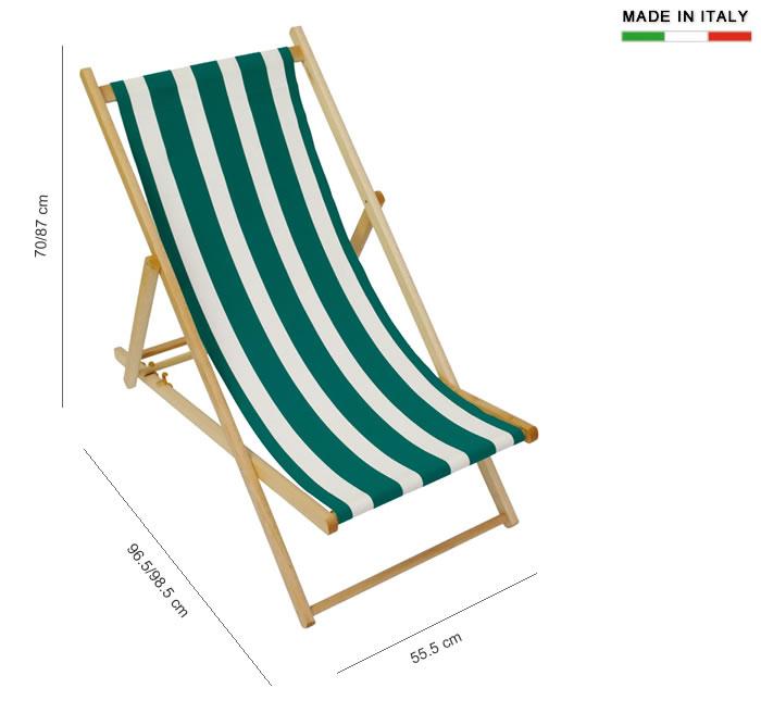 Chaise de plage pliante en bois et tissu en coton h8238 for Relax plage pliante